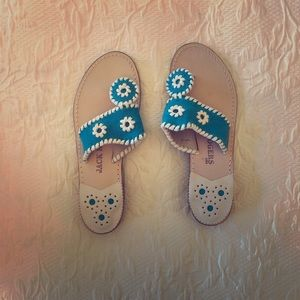 Turquoise Jack Rogers Sandals